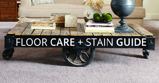 Floor Care + Stain Guide